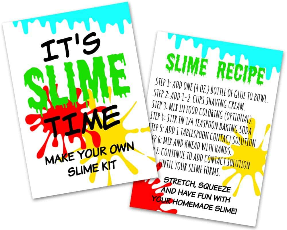 photo regarding Slime Recipe Printable titled Do it yourself Slime Package - Crank out your private slime package inside 5 minutes