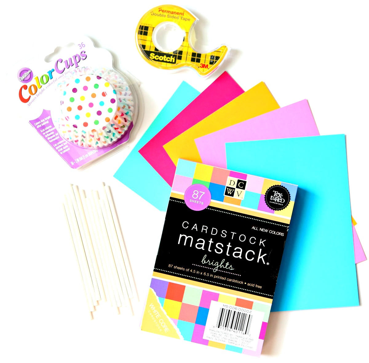 Summer Cupcake Toppers Supplies