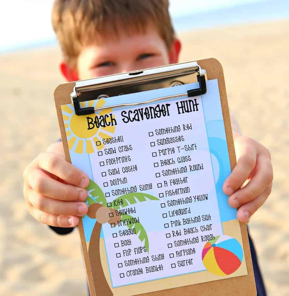 Beach Scavenger Hunt Free Printable
