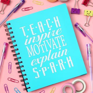 Teacher Notebook {Craft Lightning – Back to School}
