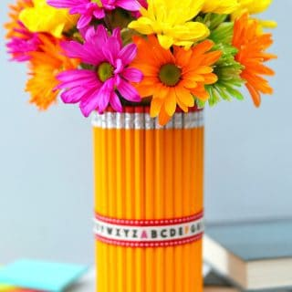 Fun Pencil Vase {Back-to-School Craft Project}