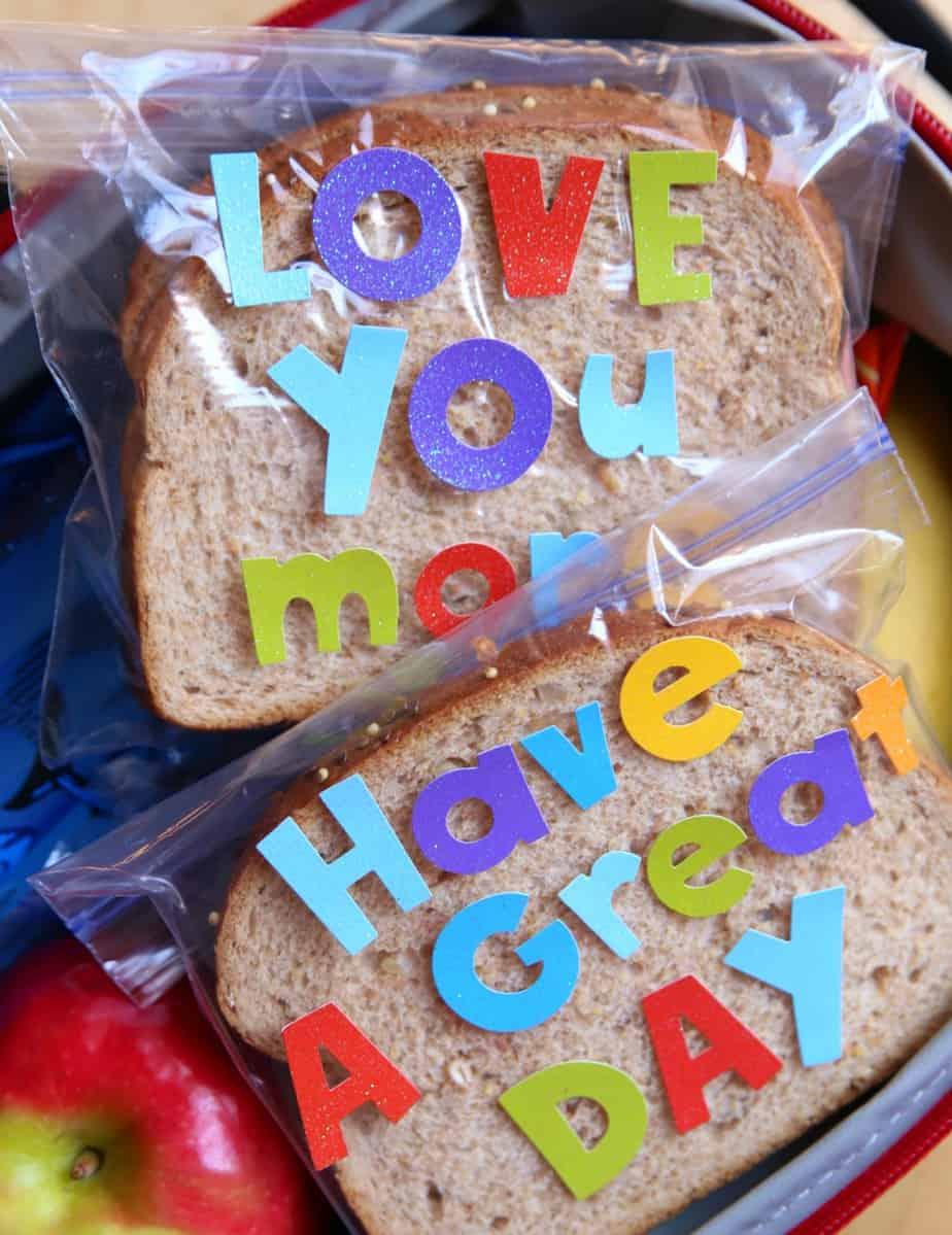 Sandwich Bag Lunchbox Notes