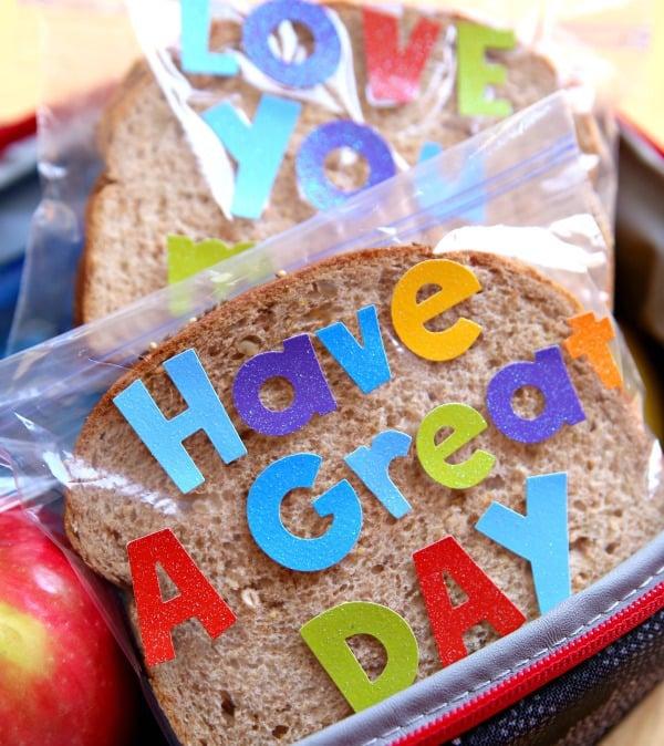 Lunchbox Sandwich Bag Notes 3