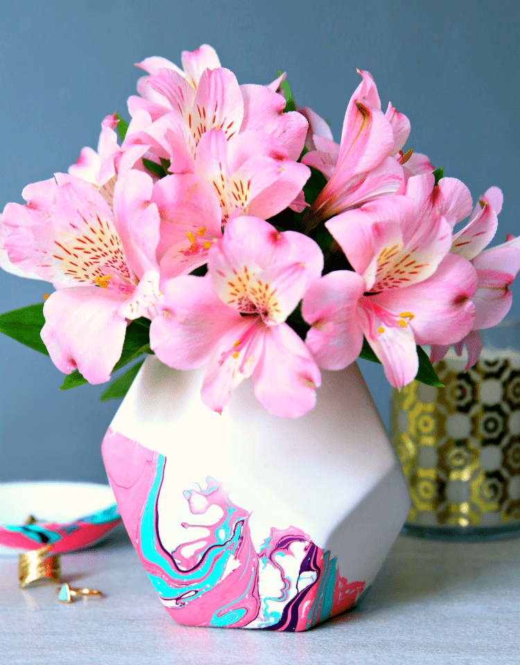 How to Marble Paint Ceramic Vase