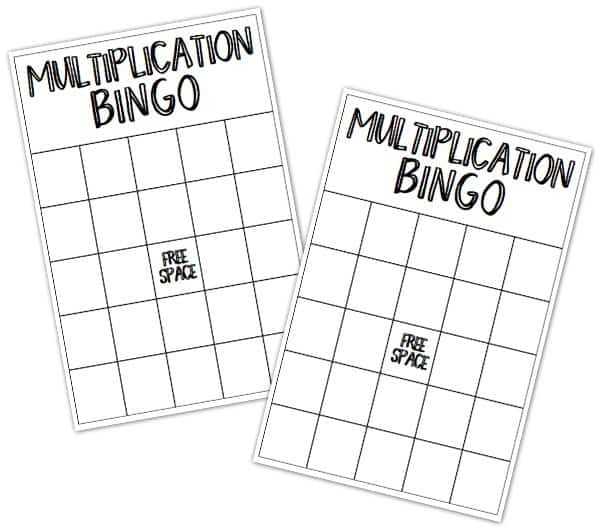Stupendous image inside printable multiplication bingo