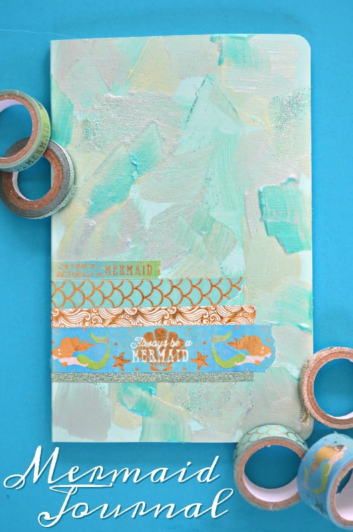 Painted-Washi-Tape-Mermaid-Journal-Cover