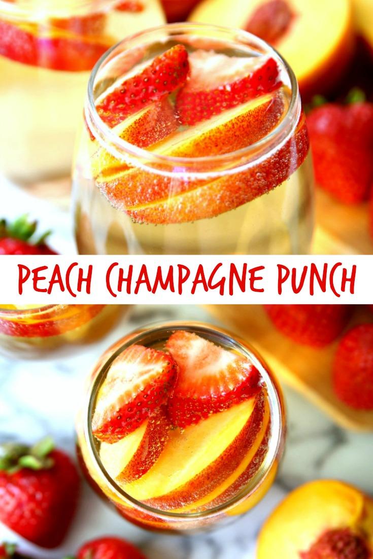 Peach Champagne Punch Recipe