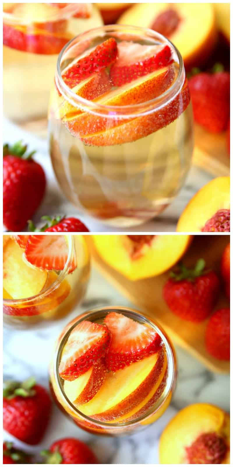 Looking for a delicious summer cocktail punch to serve this summer?  Then, you're going to love this Peach Champagne Punch!   It's full of peaches and champagne - everything a summer cocktail needs.