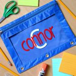 Personalized Pencil Pouches Craft Lightning