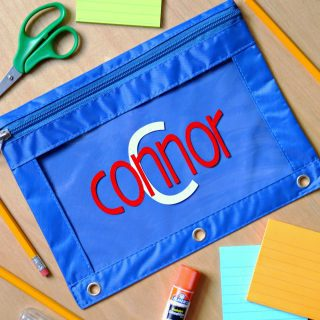 Personalized Pencil Pouches {Craft Lightning}