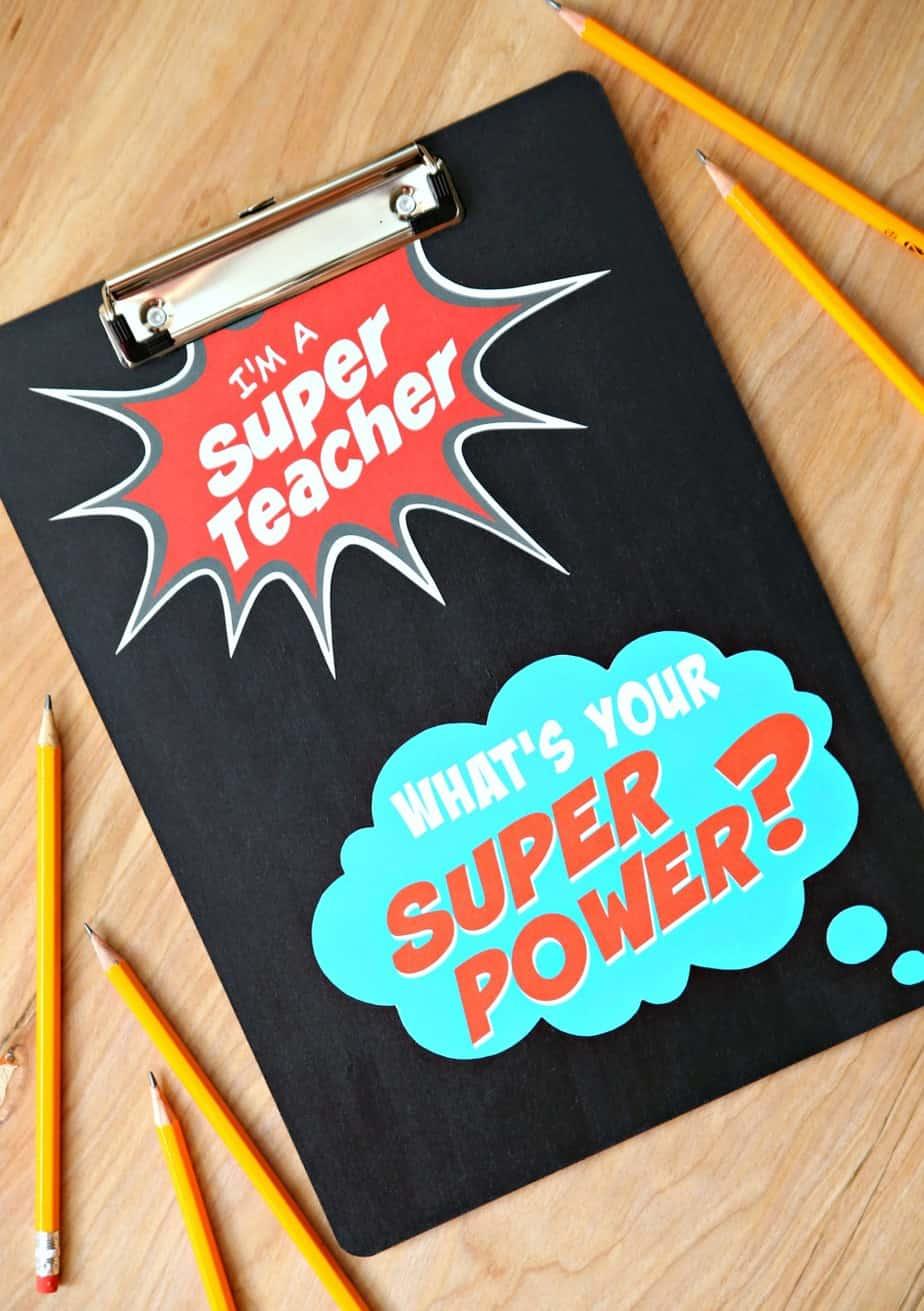 Super Teacher Clipboard