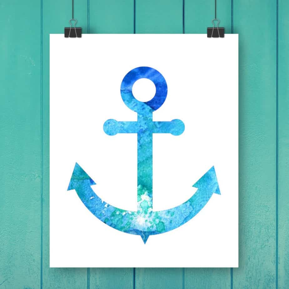 Anchor Watercolor Free Printable