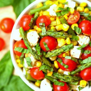 Asparagus and Corn Caprese Salad