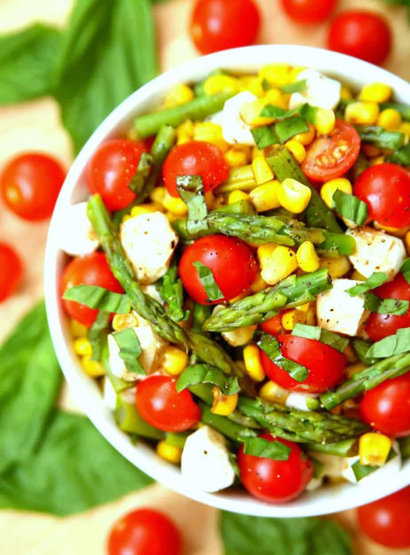 Asparagus Corn Caprese Salad 1