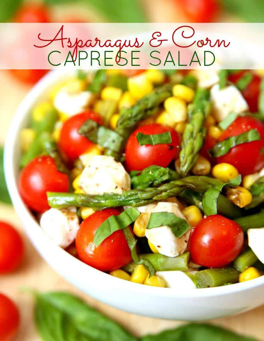 Asparagus Corn Caprese Salad