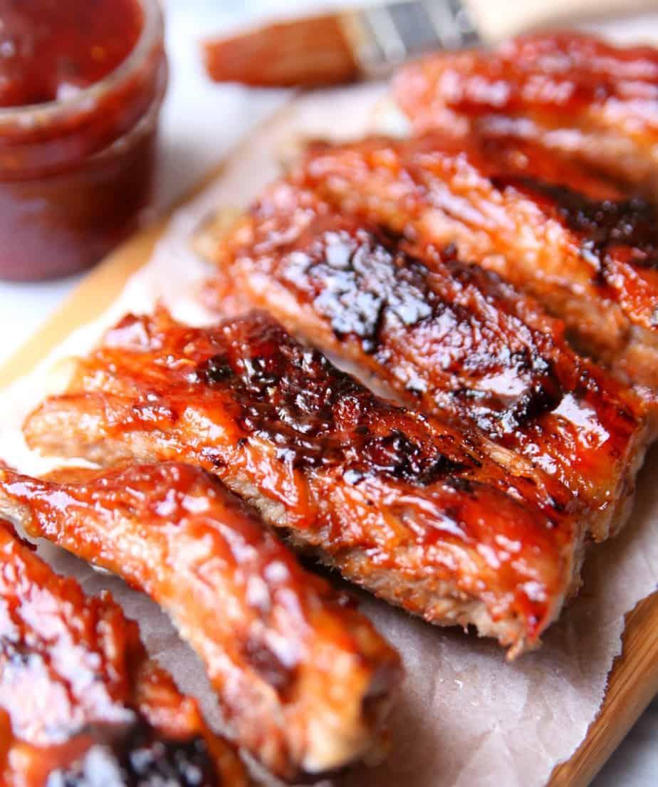 BBQ Raspberry Glazed Ribs 1