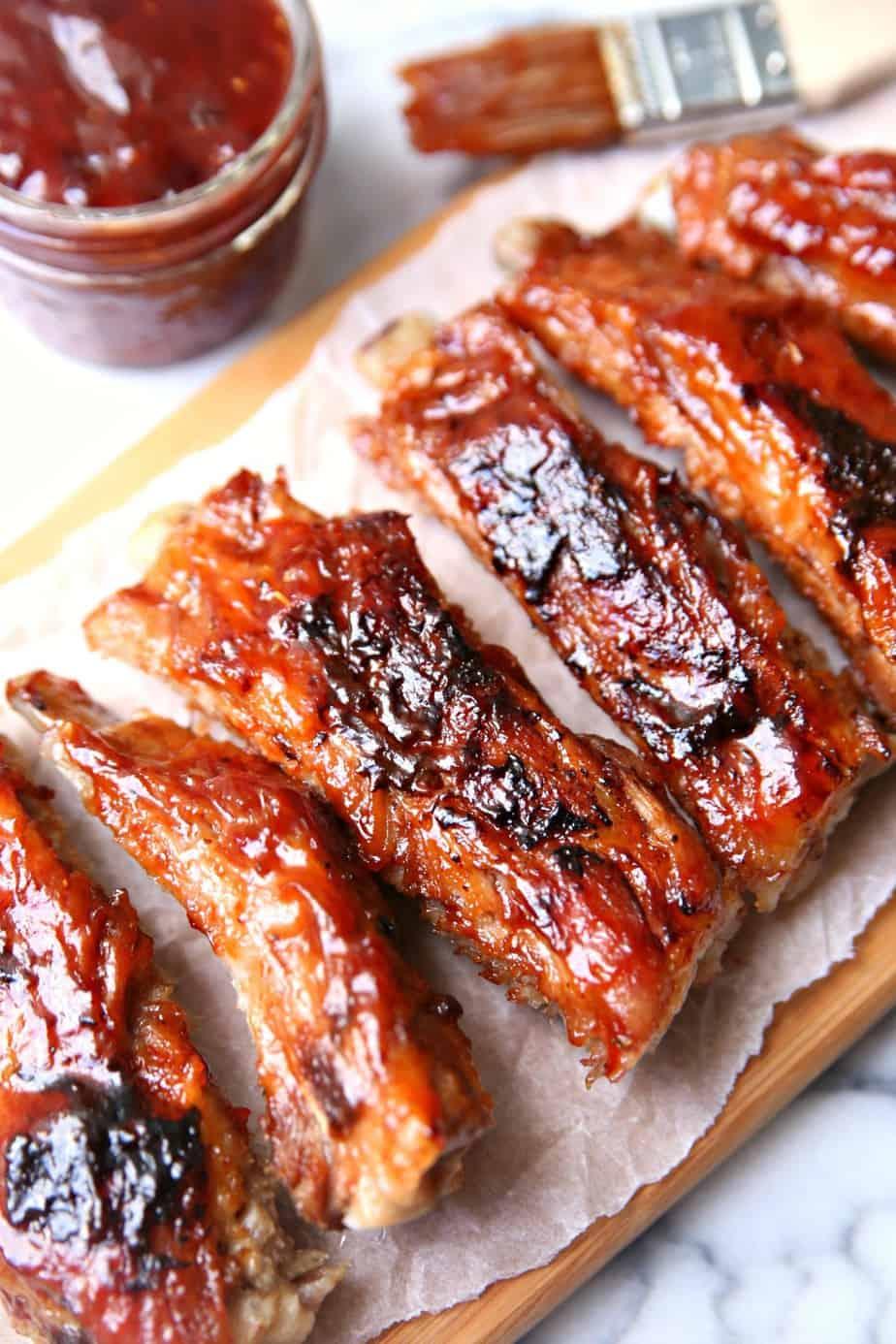 BBQ Raspberry Glazed Ribs