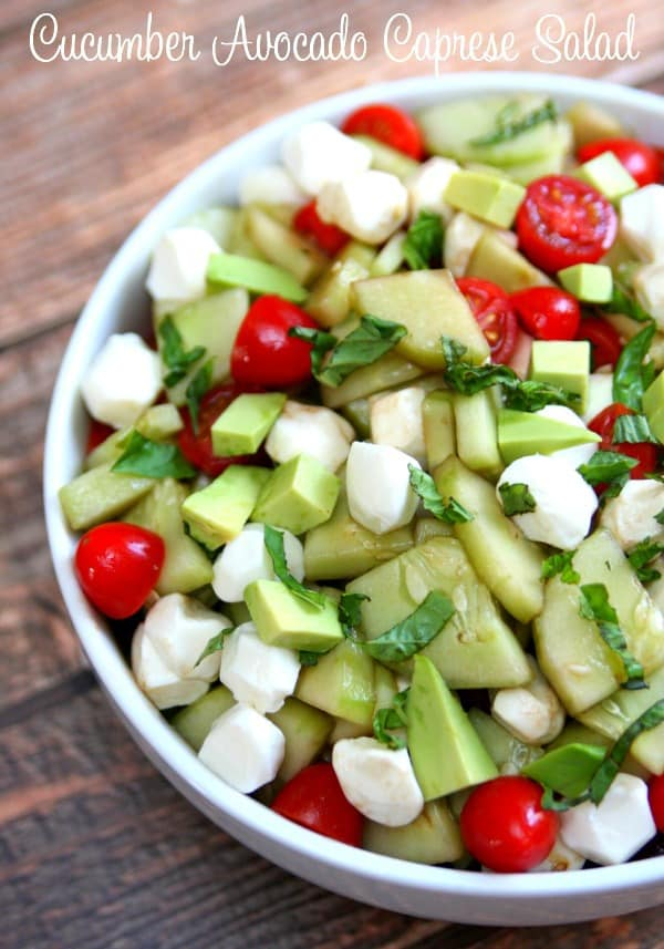 Cucumber-Avocado-Caprese-Salad