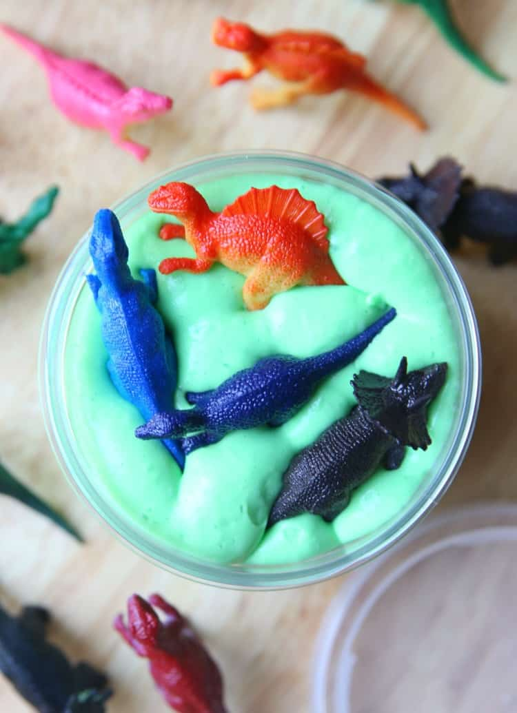 Dinosaur Slime in Container