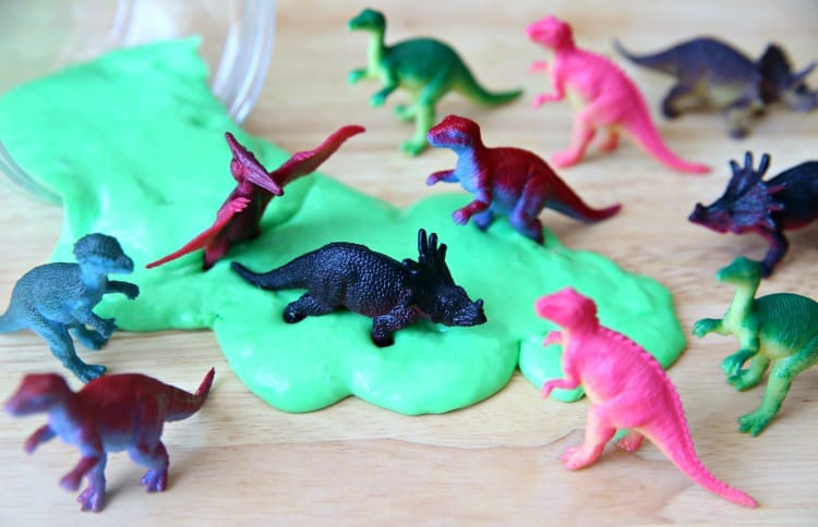 How to Make Dinosaur Fluffy Slime