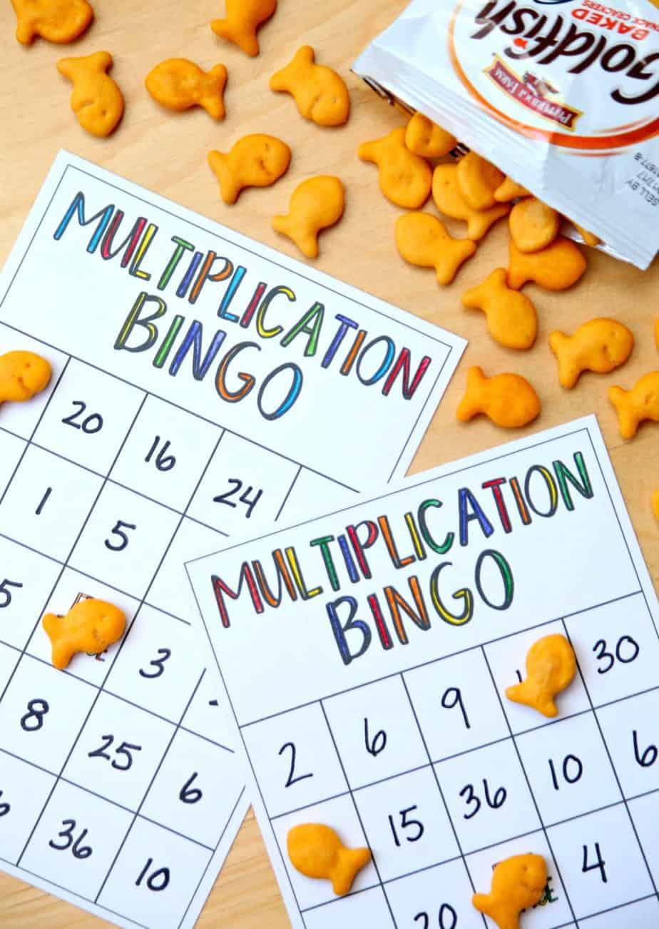 Multiplication Bingo with Goldfish