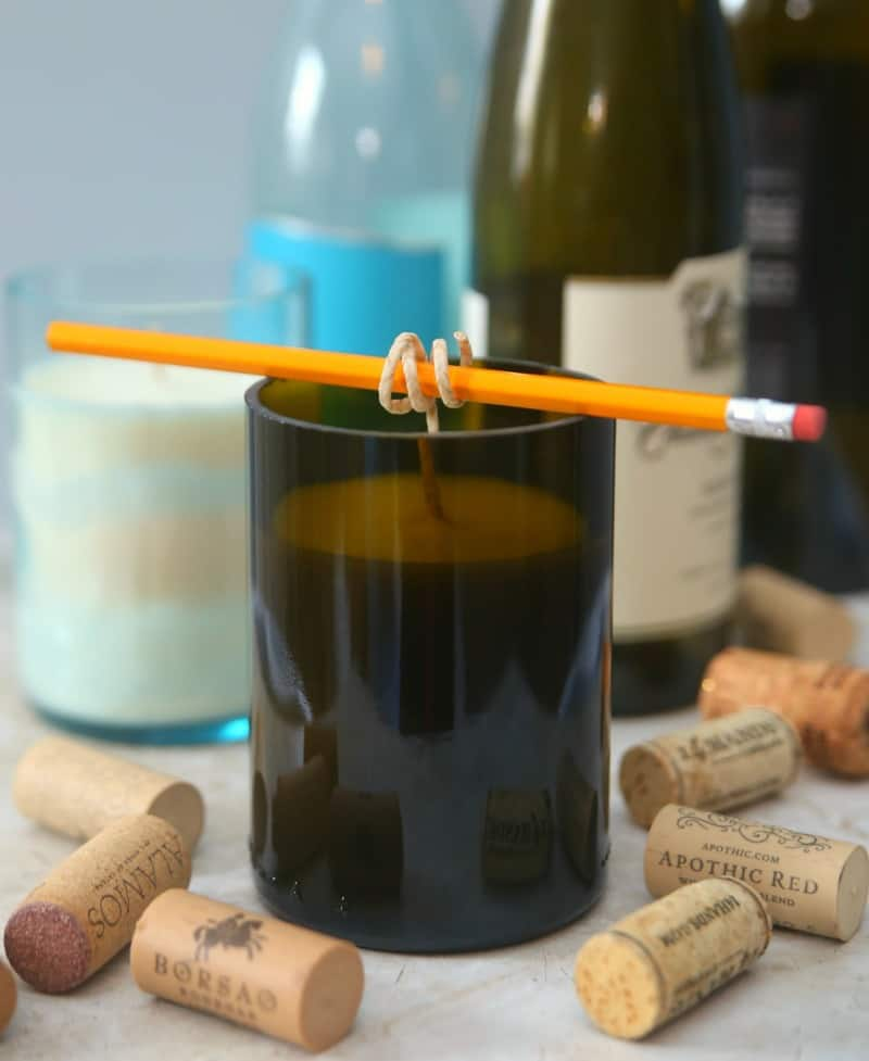 Wine Bottle Candles 1