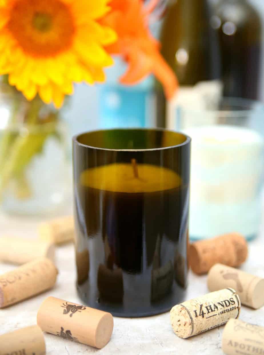 Wine Bottel Candles