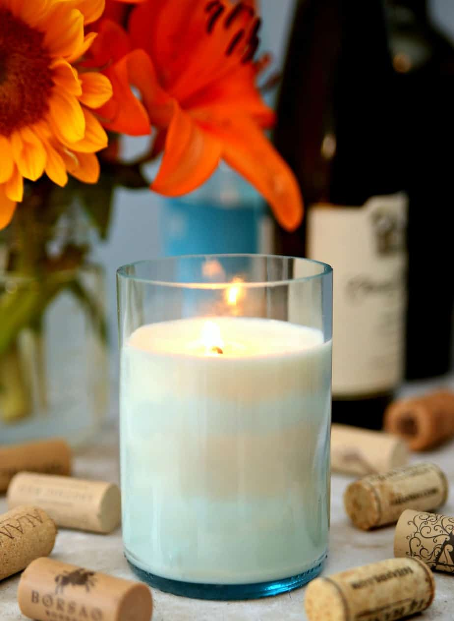 Wine Bottle Candles 5