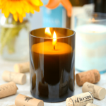 Wine Bottle Candles Square