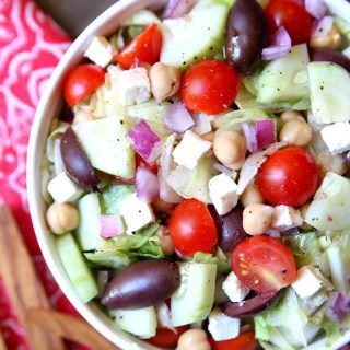 Mediterranean Chopped Salad {Pizza Night Dinner}