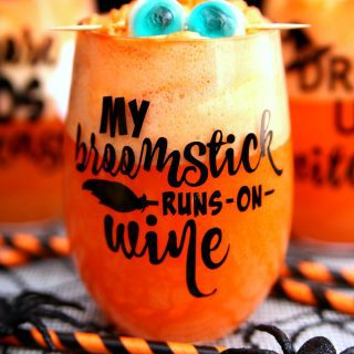 Halloween Wine Glasses & Spiked Halloween Punch