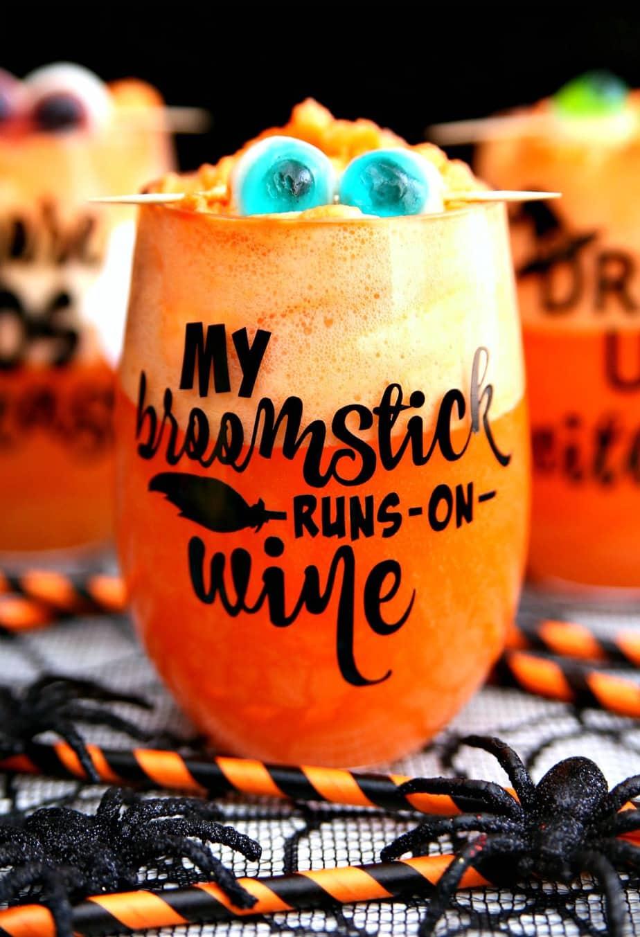 Halloween Wine Glasses Amp Spiked Halloween Punch Happy Go