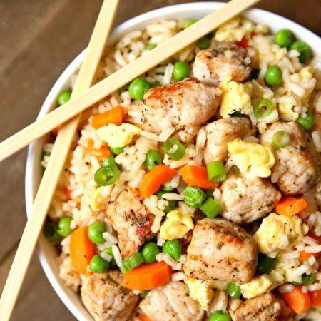 One Pot Pork Fried Rice