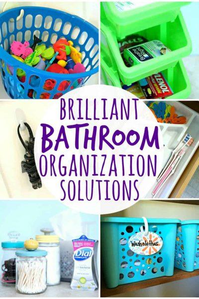 Brilliant Bathroom Organization Solutions