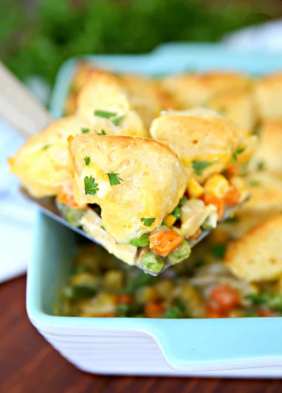 Bubble Up Chicken Pot Pie Easy Family Dinner Recipe