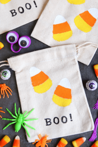 Halloween Candy Corn Treat Bags
