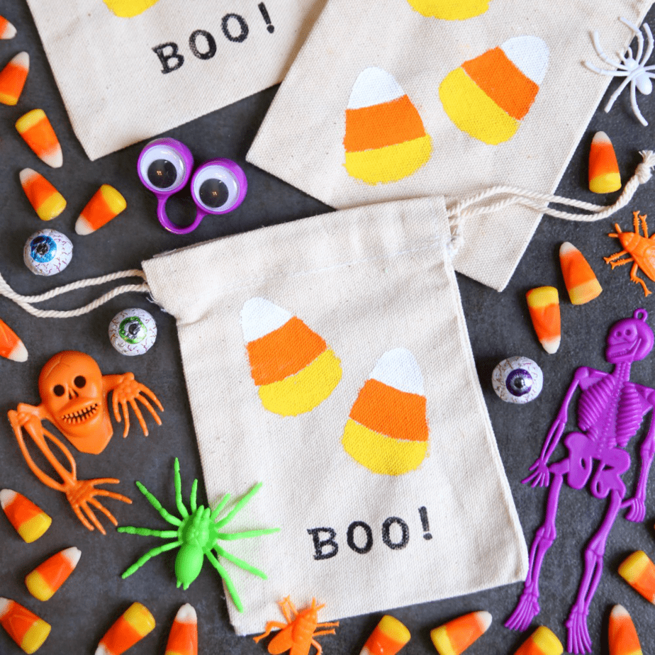 Halloween Candy Corn Treat Bags