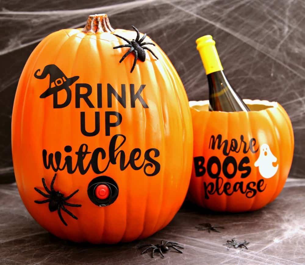 Pumpkin Wine Dispenser