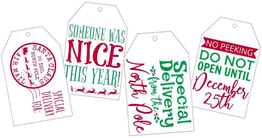 Holiday Gift Tags Free Printable