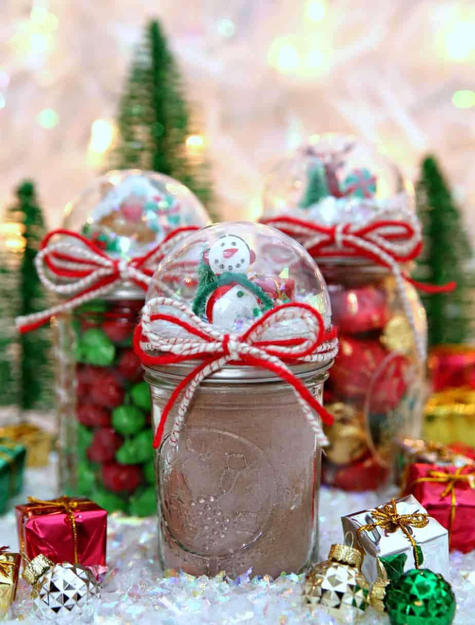 Snow Globe Mason Jars Gift