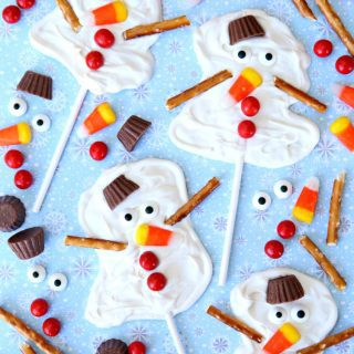 Melted Snowman Candy Pops