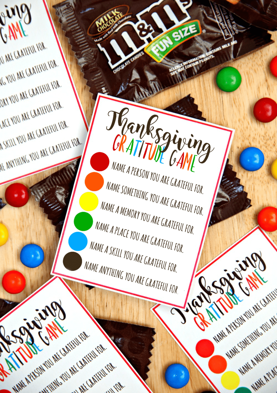 Thanksgiving Day Activities, Gratitude game