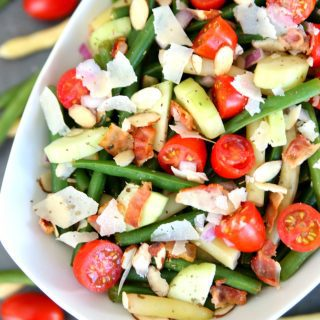 Bacon, Tomato, and Parmesan Bean Salad