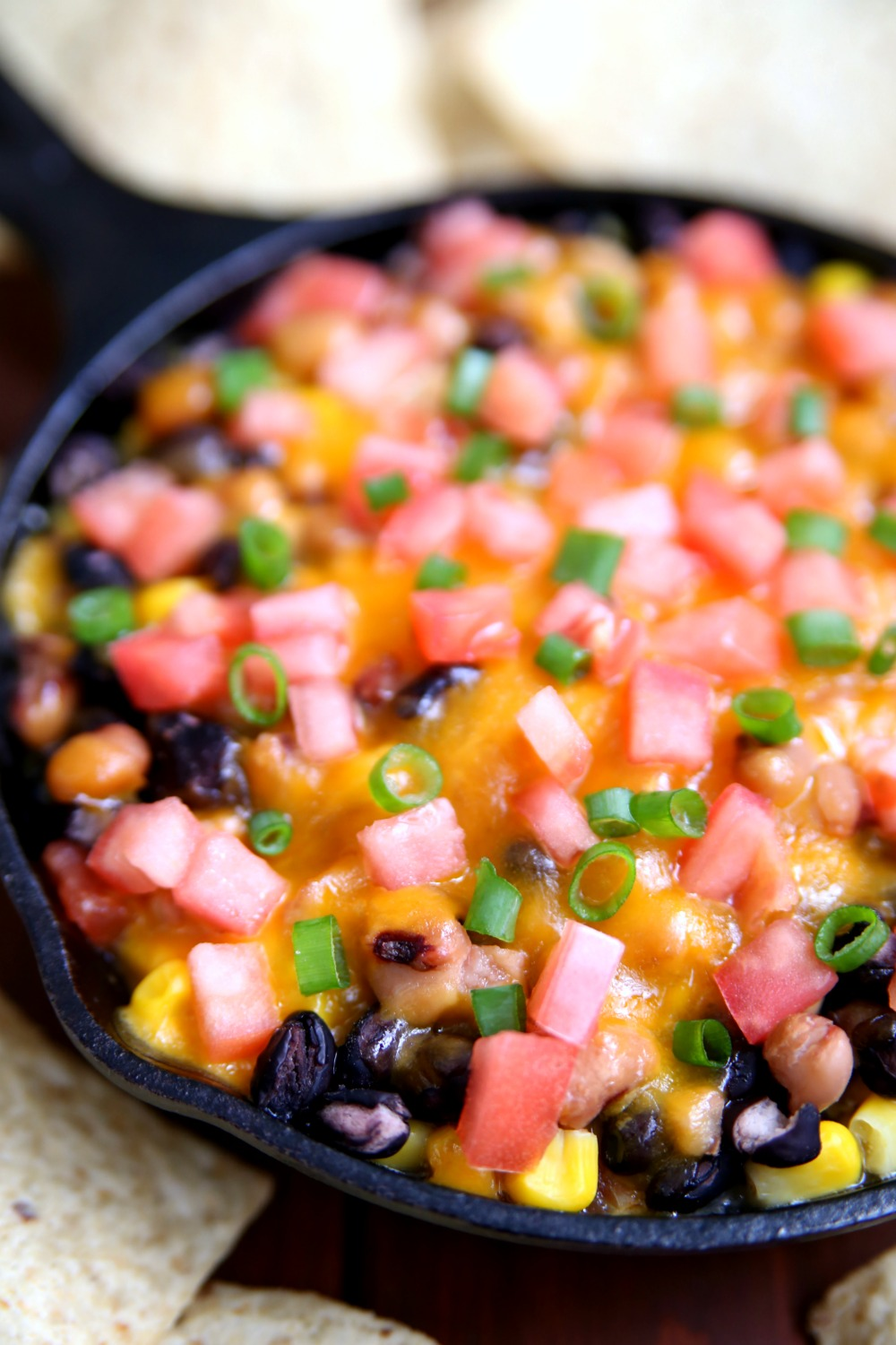 New Years Bean and Cheese Dip