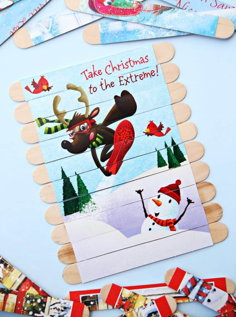 DIY Christmas puzzles for kids