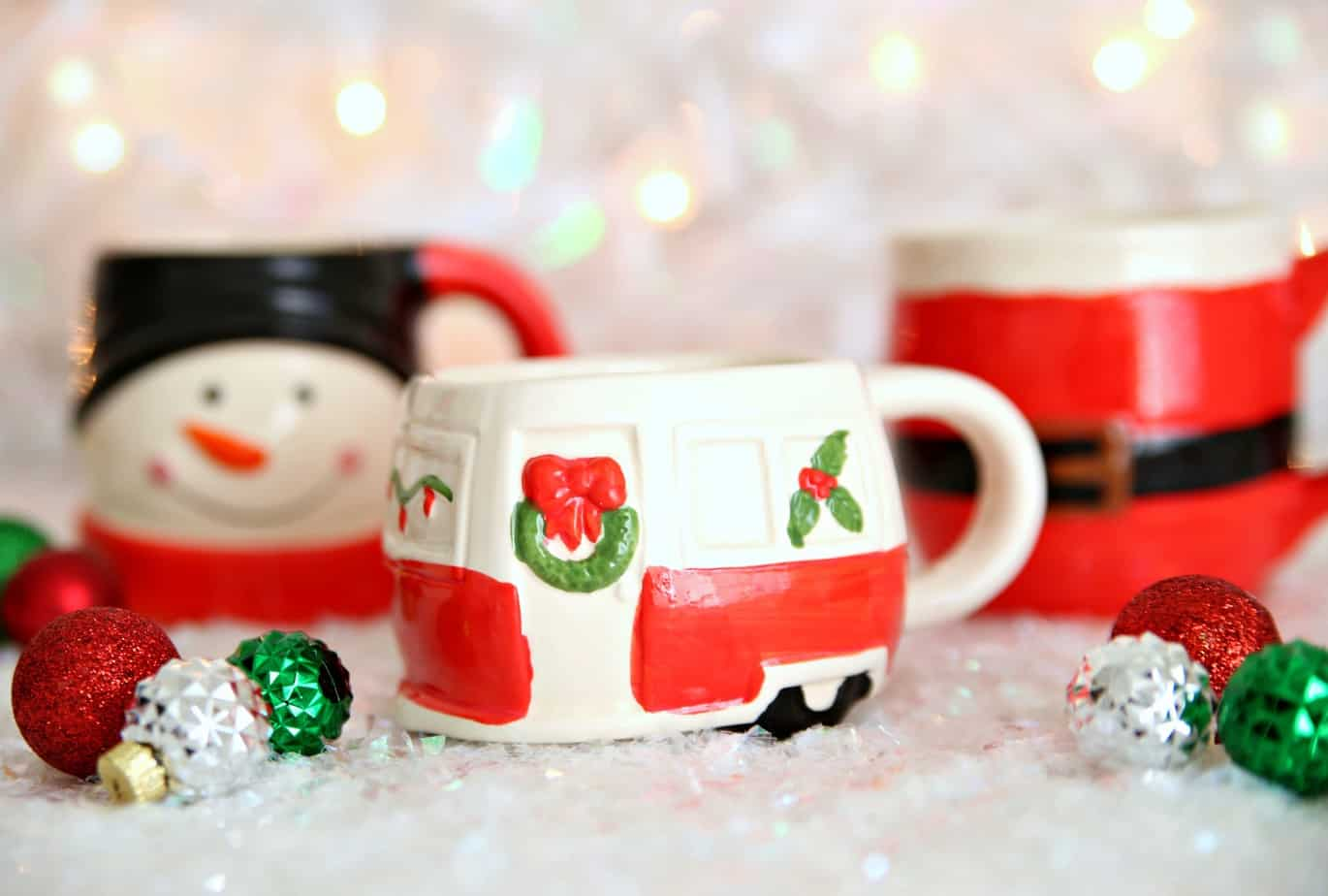 Dollar Store Holiday Mugs