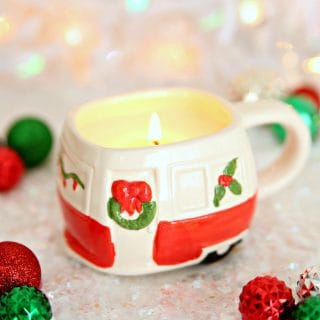 DIY Dollar Store Mug Candles {Easy Gift Idea}