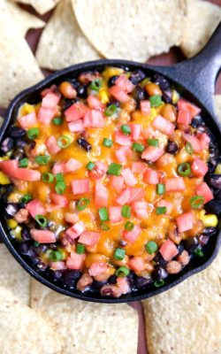 New Year's Bean and Cheese Dip