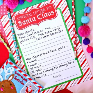 Official Letter to Santa Claus {Free Printable}
