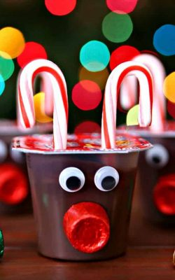Reindeer Pudding Cups